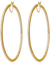 Henri Bendel | Luxe Uptown Pave Hoop Earring | Lyst