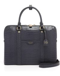 Henri Bendel - West 57th Croco Briefcase - Lyst