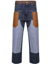 Comme des Garçons - Levis Patchwork Denim Jeans Indigo - Lyst