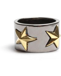 Tomasz Donocik | Tomaz Donocik Black Star Ring Black Rhodium | Lyst
