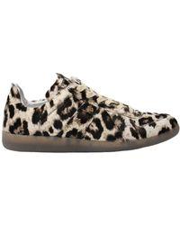 Maison Margiela - Leopard Replica Sneakers Beige - Lyst