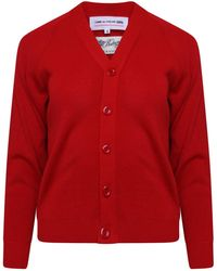 Comme des Garçons - Classic Knit V Neck Cardigan Red - Lyst