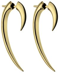 Shaun Leane - Silver Hook Earrings Gold - Lyst