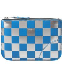 Comme des Garçons - Sa8100gb Optical Group Check Wallet Blue - Lyst
