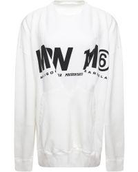 MM6 by Maison Martin Margiela - Two Piece Logo Sweater White - Lyst
