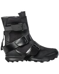 Yohji Yamamoto - Triple Buckle Logo Boots Black - Lyst
