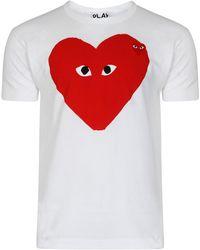 Comme des Garçons - Men's Play Big Red Heart White - Lyst