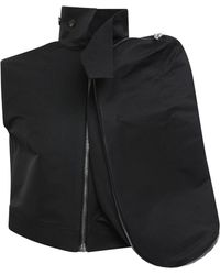 Rick Owens - Sleeveless Cargo Cropped Jacket Black - Lyst