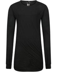 Rick Owens - Black Twisted Cotton Top - Size L - Lyst
