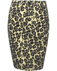 Sibling | Leopard Print Denim Skirt | Lyst