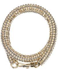 Atelier Swarovski - Slim Double Bolster Bracelet Gold - Lyst