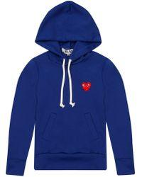 Comme des Garçons - Play Womens Red Heart Hoodie Blue - Lyst