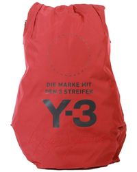 Y-3 - Stacked Logo Bag Red - Lyst