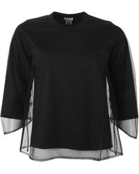 Comme des Garçons Long Sleeved Mesh Layered Top