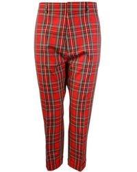 DSquared² - Cropped Tartan Pants - Lyst