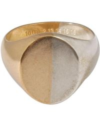 Maison Margiela - Two Tone Signet Ring Silver/gold - Lyst
