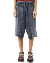 Lost & Found - Vented Linen Shorts - Lyst