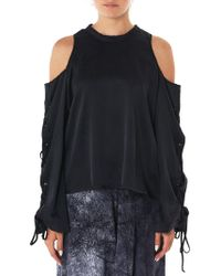 Lost & Found - Deconstructed Lace Sleeve Top - Lyst
