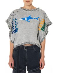 Bernhard Willhelm - Fringed Graphic Tee - Lyst