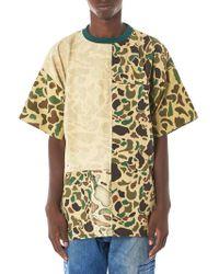 Longjourney   Vintage Camouflage Patchwork Tee   Lyst
