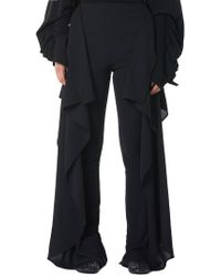 Paula Knorr - Jersey Crepe Curtain Trousers - Lyst