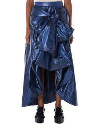 Xiao Li - Bowed Metallic Puffer Skirt - Lyst