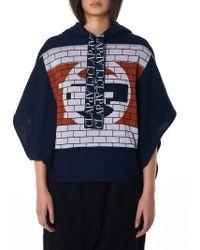 Bernhard Willhelm - 'clap' Knit Hooded Pullover - Lyst