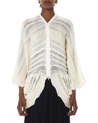 Alessandra Marchi - Multi-knit Cardigan - Lyst