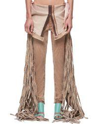 Jenny Fax Fringe Jeans - Brown