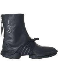 cf17932f2f564 Lyst - Yohji Yamamoto Takusan Black High Top Sneakers in Black