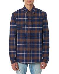 John Elliott - Plaid Flannel Shirt - Lyst