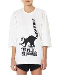 Bernhard Willhelm - 'tropical' Lemur Crewneck Tee - Lyst