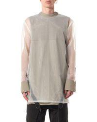 BMUET(TE) - Rear-buttoned Mesh Shirt - Lyst