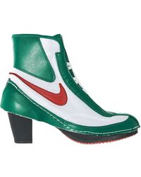 Comme des Garçons - Green And White Nike Edition Heeled Boxing Boots - Lyst