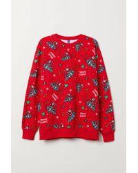 H&M - Weihnachts-Sweatshirt - Lyst