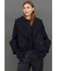 H&M - Wool-blend Pea Coat - Lyst