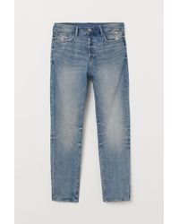 H&M - Tapered Jeans - Lyst
