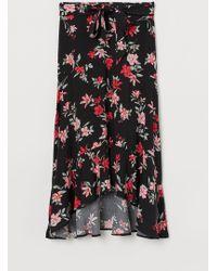 H&M Patterned Skirt - Black