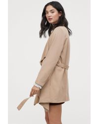 H&M - Coat With Draped Lapels - Lyst