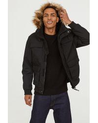H&M - Short Hooded Jacket - Lyst