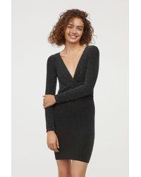 H&M - Long-sleeved Dress - Lyst
