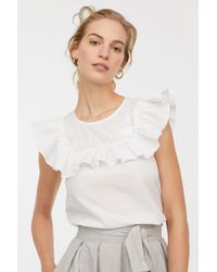 693c335d273 Lyst - H&M + Basic Top in White