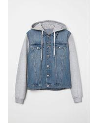 H&M - Hooded Denim Jacket - Lyst