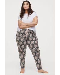 H&M - H & M+ Patterned Pyjama Bottoms - Lyst