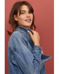 H&M - Oversized Denim Jacket - Lyst