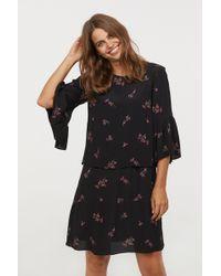 34d0470b69529 Lyst - H&M Mama Nursing Dress in Black