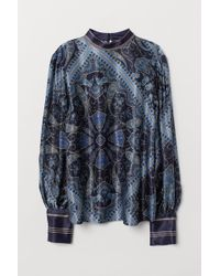 H&M - Bluse mit Paisleymuster - Lyst