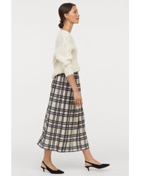 H&M - Pleated Wrapover Skirt - Lyst