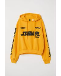 H&M - Short Hooded Sweatshirt - Lyst
