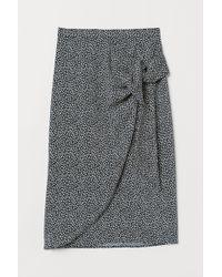 H&M Draped Wrapover Skirt